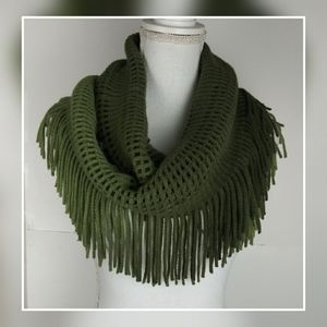Charming Charlie green ombre knit infinity scarf